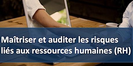 """Formation """" Maîtriser et auditer les risques liés aux ressources humaines """" billets"""
