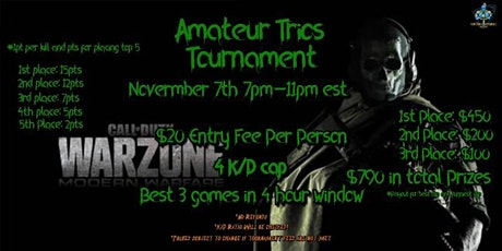 WARZONE TRIOS TOURNAMENT 11.7 tickets