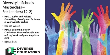 Diversity in Schools Masterclass - For Leaders (repeat) tickets