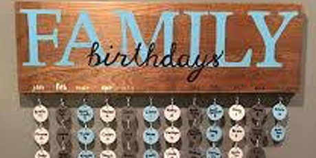 Family Birthday Board DIY tickets