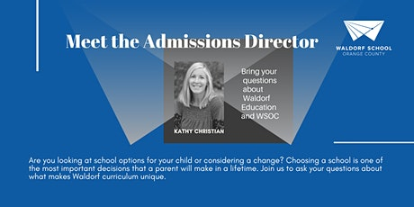 Meet the Admissions Director tickets