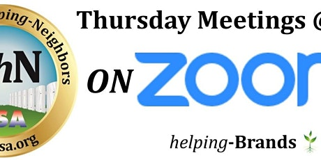 Neighbors-helping-Neighbors on Zoom  Thursdays at 7pm tickets