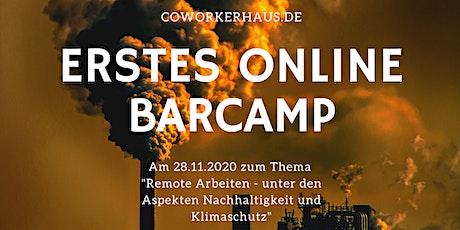 """Onlinebarcamp """"Remote Arbeiten - Nachhaltigkeit und Klimaschutz"""" Tickets"""
