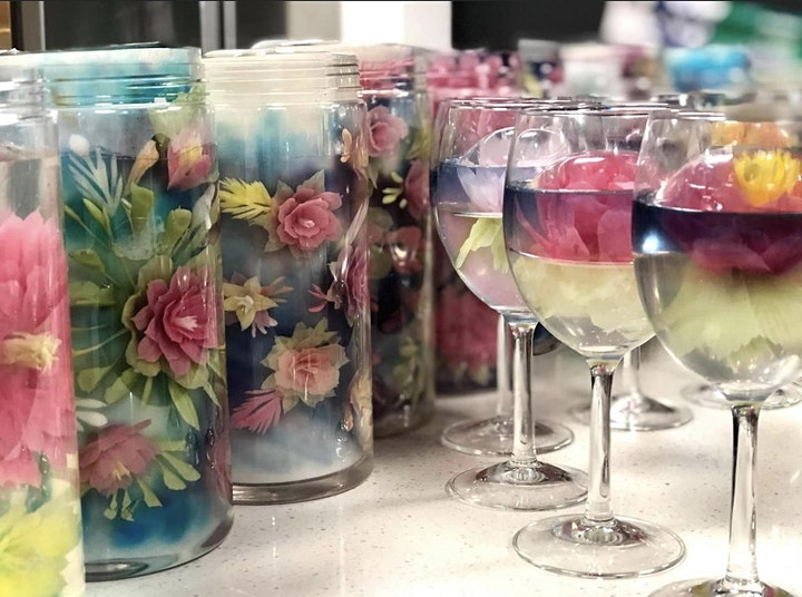 Special Edition: 3D Jelly Art Pillar/Roll & Champagne Glass (Intermediate) image