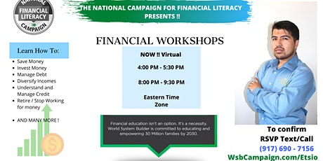 (Virtual) Etsio Flores Presents - FINANCIAL LITERACY WORKSHOPS (Bronx) tickets