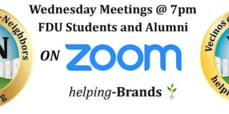 Neighbors-helping-Neighbors (FDU)on Zoom  Wednesdays at 7pm tickets