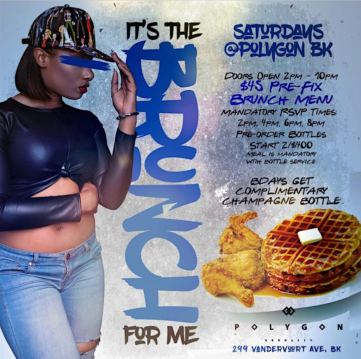 It's The Brunch For Me - Bottomless Brunch, Bdays Celebrate Free w/ Live DJ image