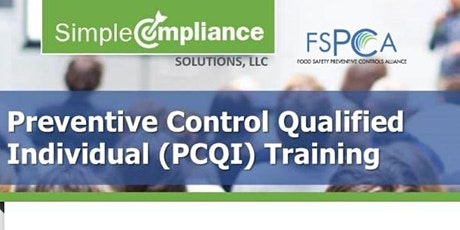 FSMA | FSPCA Preventive Controls for Human Food (Virtual Online) tickets