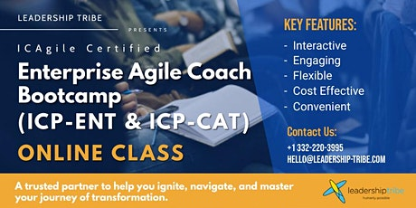 Enterprise Agile Coach Bootcamp (ICP-ENT & ICP-CAT) | Virtual - Part Time tickets