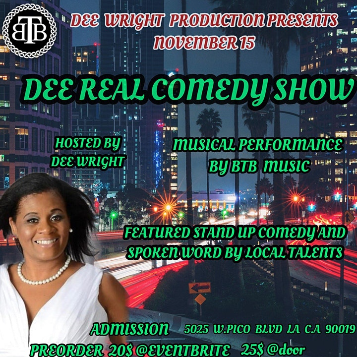 DEE REAL COMEDY SHOW - Sunday Evenings at ECHOES ON PICO image