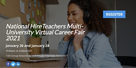 National HireTeachers Multi-University Virtual Career Fair 2021 tickets