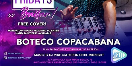 Salsaholics Fridays at Boteco Copacabana feat. DJ Mike Calderon tickets