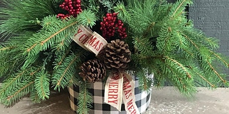 Holiday Galvanized Bucket Arrangement tickets