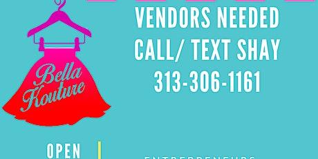 Vendors Needed tickets