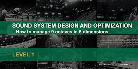 Sound System Design And Optimization  LEVEL 1 (Finnish) tickets