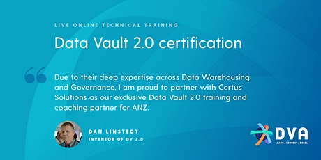 Data Vault 2.0 Boot Camp & Certification - 17-19 AUG 2021 - ONLINE DELIVERY tickets