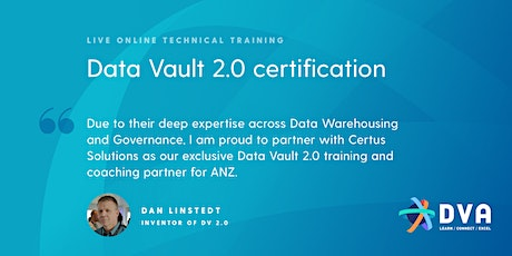 Data Vault 2.0 Boot Camp & Certification - 14-16 SEP 2021 - ONLINE DELIVERY tickets