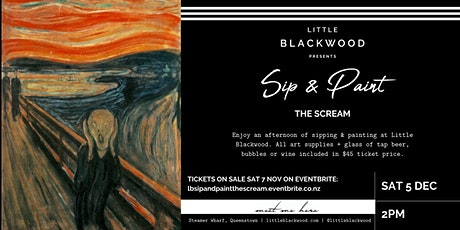 Sip & Paint: The Scream at Little Blackwood, Queenstown tickets