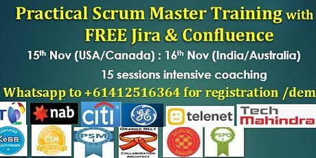 Practical Scrum Master Training with FREE Jira & Confluence tickets
