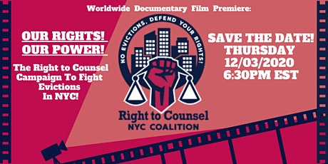 Right To Counsel NYC Documentary Global Premiere 12/3 tickets