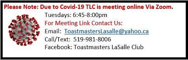 Toastmasters Lasalle Club (TLC) Meeting image