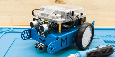 Workshop: Build & Block Code an mBot robot to keep! Seniors, Adults + Kids. tickets