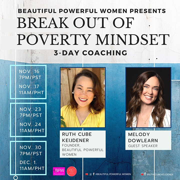 Break Out of a Poverty Mindset (3-Day Coaching) by Beautiful Powerful Women image