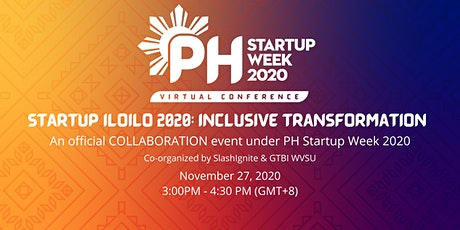 Startup Iloilo 2020: Inclusive Transformation tickets
