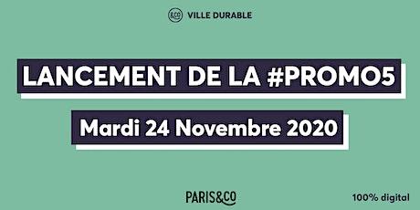 Evènement de Lancement de la #Promo5 de startups Ville Durable de Paris&Co billets
