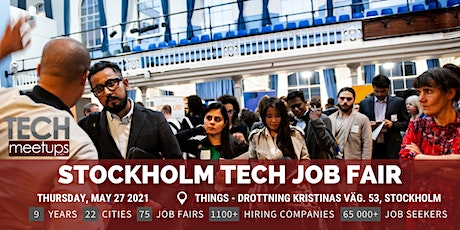Stockholm Tech Job Fair  By Techmeetups tickets