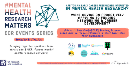 #MentalHealthResearchMatters - ECR event series: funding & networking tickets