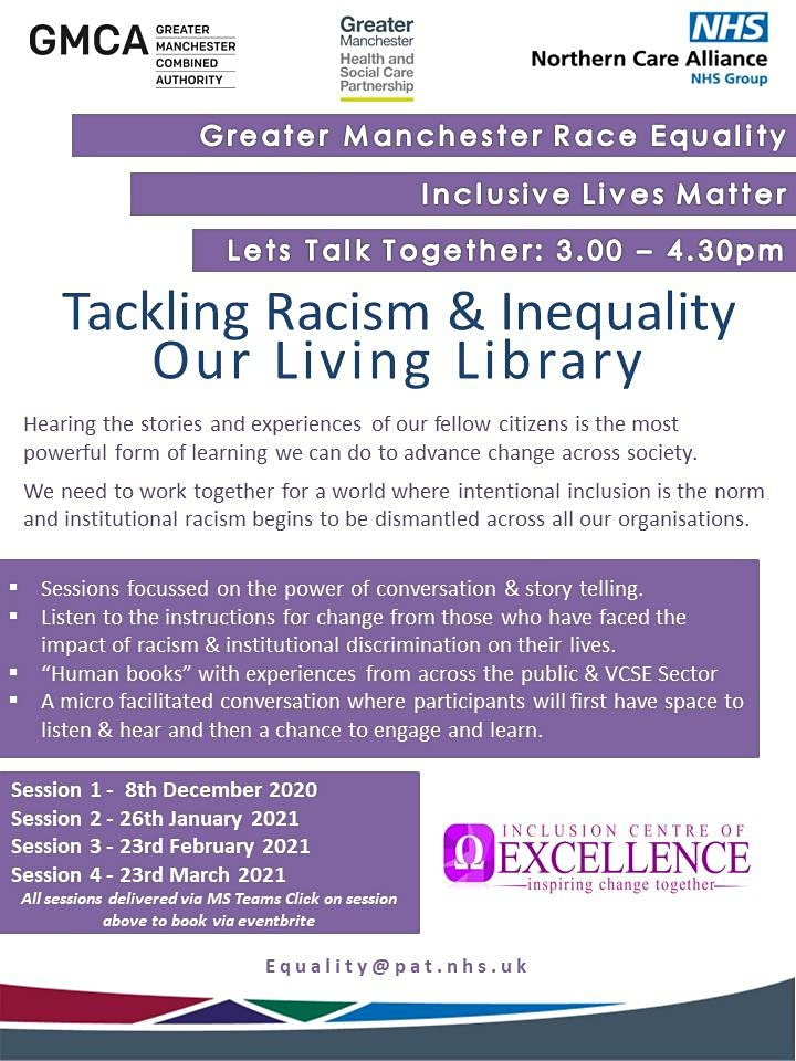 Inclusive Lives Matter - Lets Talk Racism & Inequality image