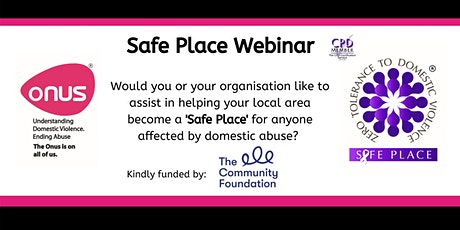Onus Safe Place Webinar - Northern Ireland tickets