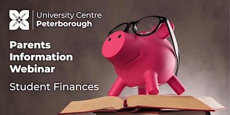 Parents Information Webinar - Student Finances tickets