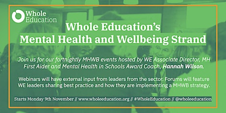 Whole Education: Mental Health and Wellbeing Strand tickets