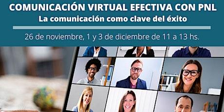 CURSO DE COMUNICACIÓN VIRTUAL EFECTIVA CON PNL entradas
