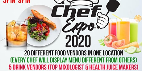 CHEF EXPO 2020 • CHEFS • MIXOLOGISTS • HEALTH JUICE MAKERS • BAKERS  • tickets