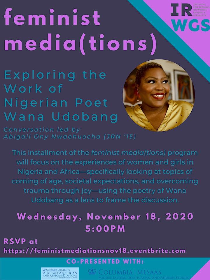 feminist media(tions): Exploring the Work of  Nigerian Poet  Wana Udobang image