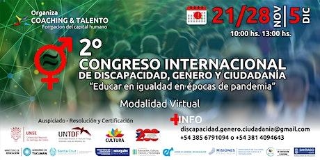 II CONGRESO INTERNACIONAL DE DISCAPACIDAD, GENERO Y CIUDADANÍA boletos