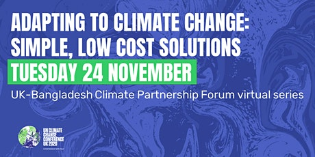Adapting to climate change: simple, low cost solutions tickets