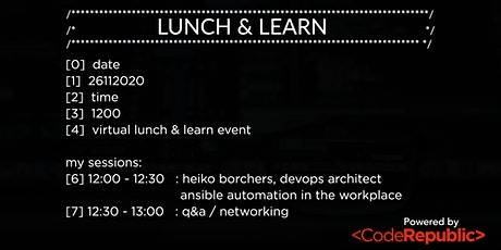 Lunch & Learn: Ansible Automation in the Workplace tickets