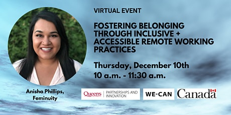 Fostering Belonging Through Inclusive + Accessible Remote Working Practice tickets