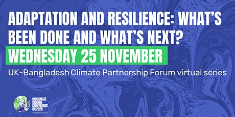 Adaptation and resilience: what's been done and what's next? tickets