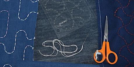 Moyozashi Sashiko - stitch a tote bag (Online class) tickets
