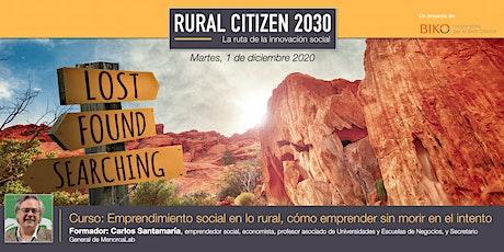Nanoformación RC30 - Emprendimiento social en lo rural entradas