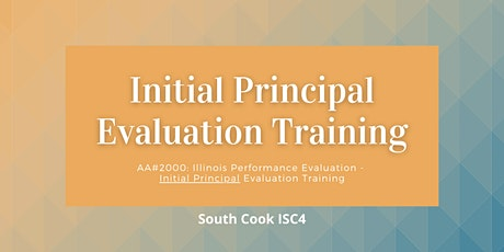 AA #2000: IL Performance Evaluation - Initial  Principal Evaluat... (06840) tickets