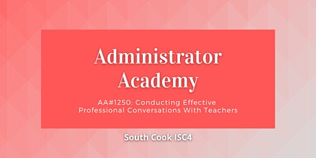 AA #1250: Conducting Effective Professional Conversations with T... (06808) tickets