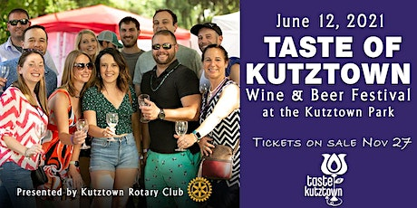 2021 Taste of Kutztown Wine & Beer Festival tickets