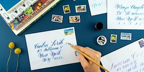 Envelope Addressing Calligraphy WebJam 1 + 2 tickets