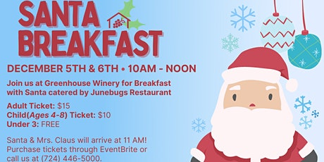Breakfast with Santa at Greenhouse Winery! tickets